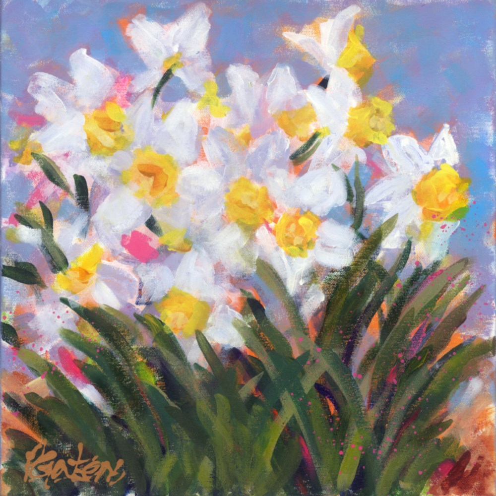 """Dandy Daffodils"" original fine art by Pamela Gatens"