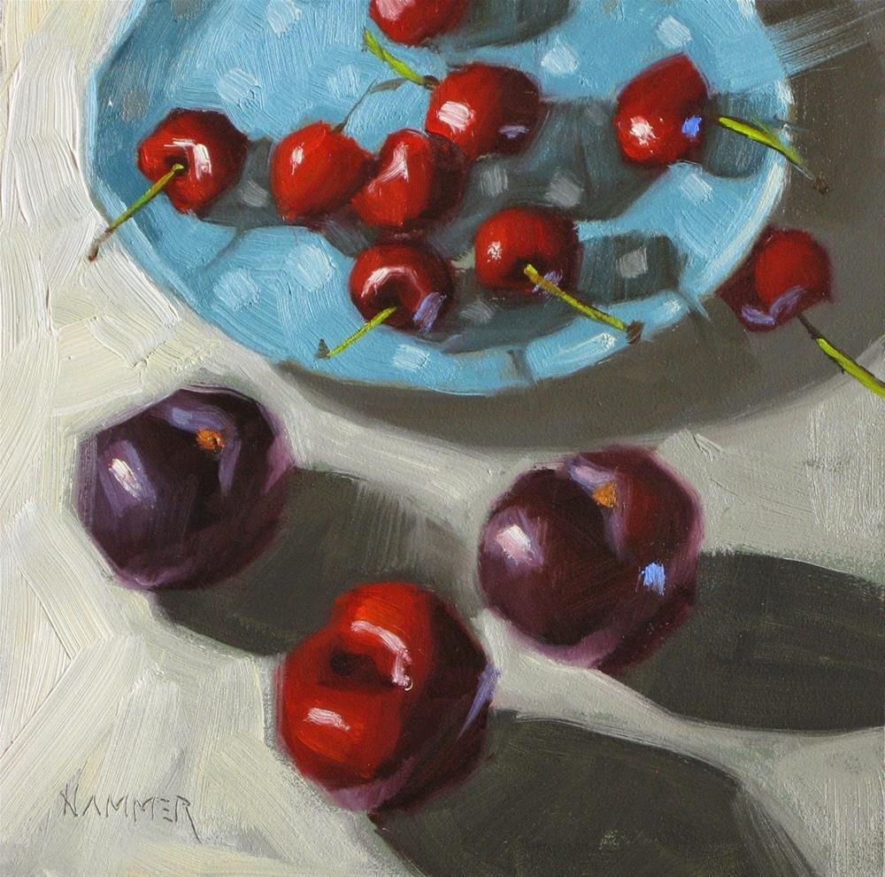"""The upper hand  6 x 6  oil"" original fine art by Claudia Hammer"