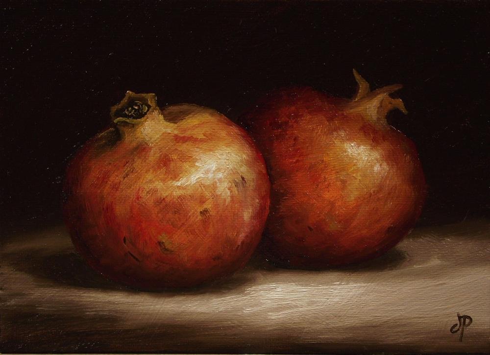 """Pomegranates"" original fine art by Jane Palmer"