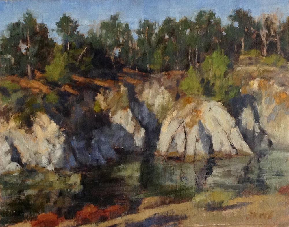 """Point Lobos Reflections"" original fine art by Barbie Smith"