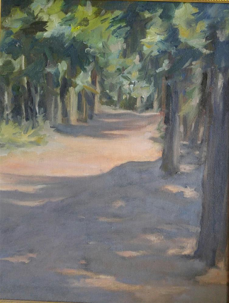 """""""Wooded Path"""" original fine art by angela scully"""