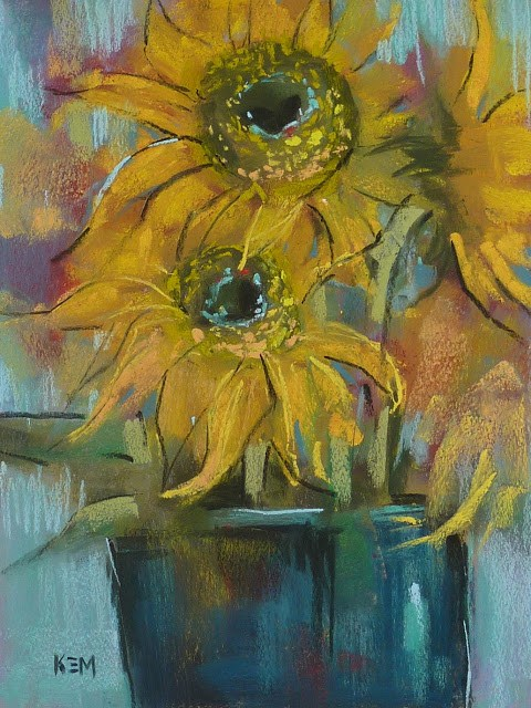 """F is for Flowers...Painting them with Feeling"" original fine art by Karen Margulis"