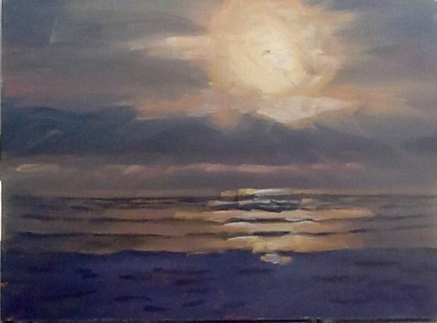 """Another Cold Sunrise"" original fine art by Elizabeth Bish"