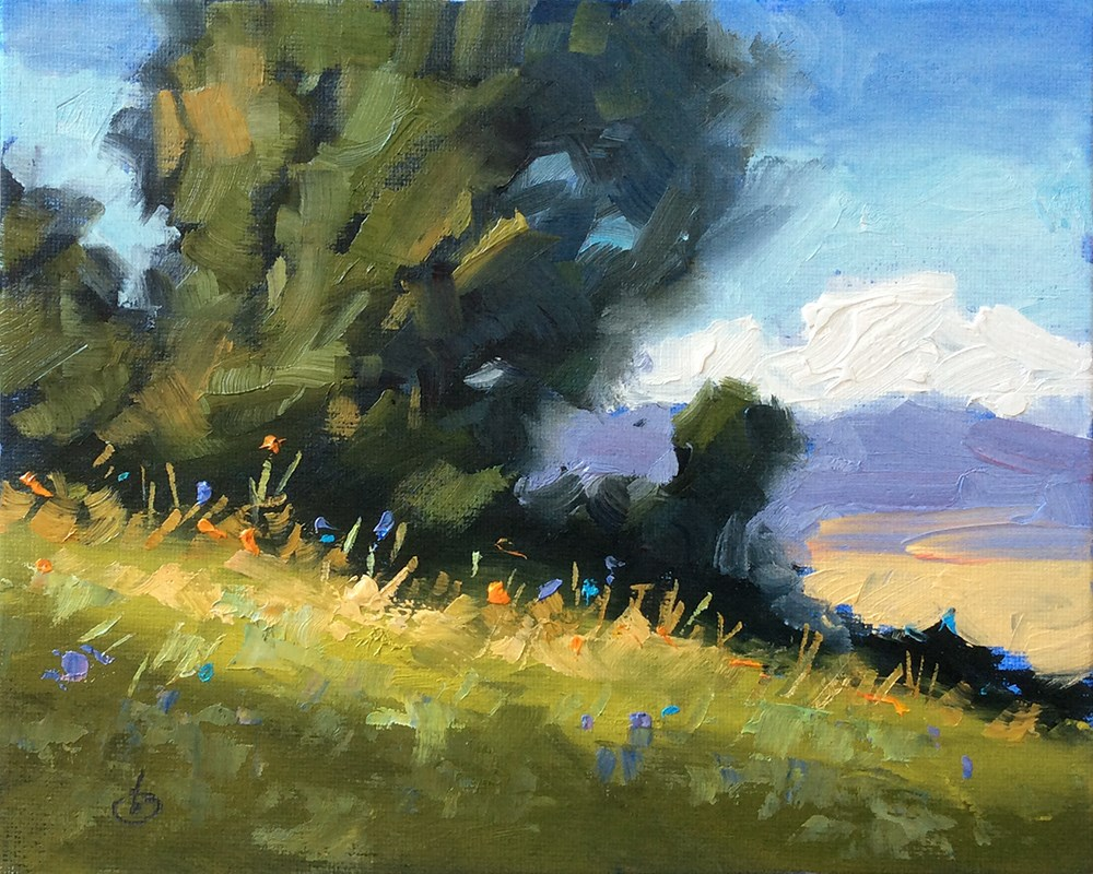 """""""A BEAUTIFUL DAY IN THE FRESH AIR"""" original fine art by Tom Brown"""