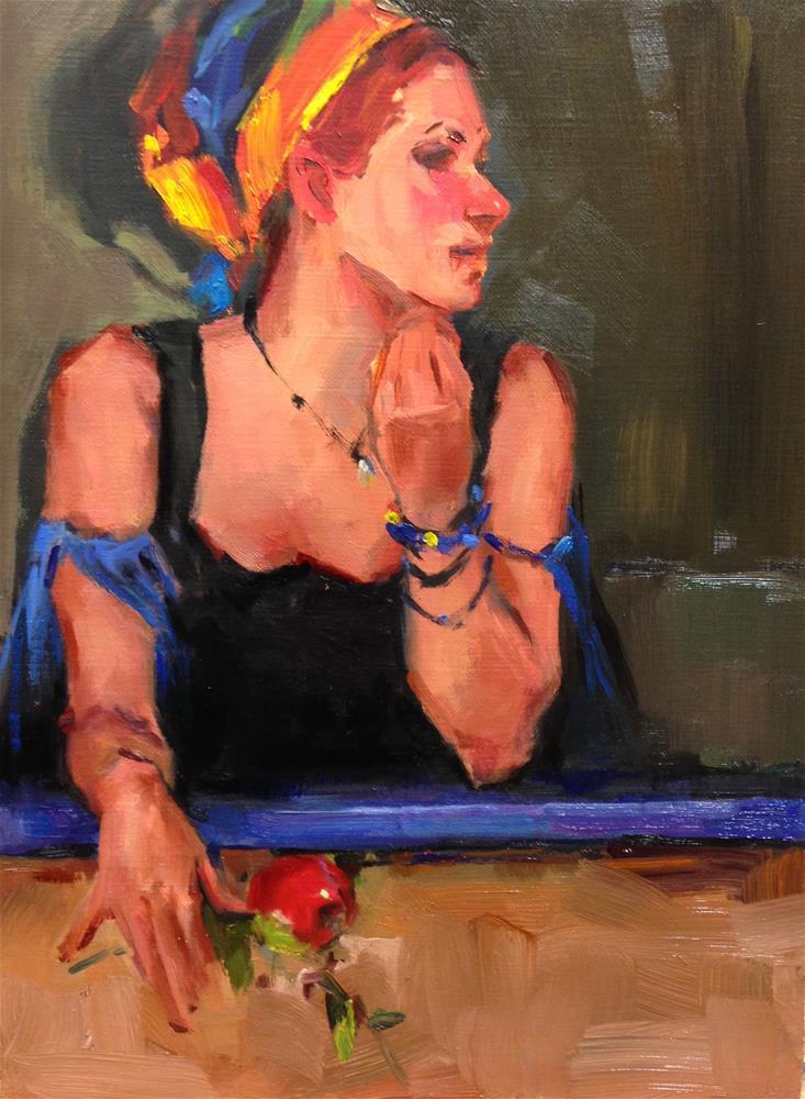 """""""The Fortune Teller"""" original fine art by Laurie Johnson Lepkowska"""