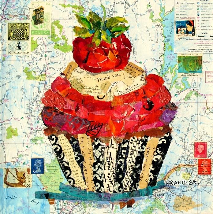 """California Cupcake 12078 SOLD"" original fine art by Nancy Standlee"