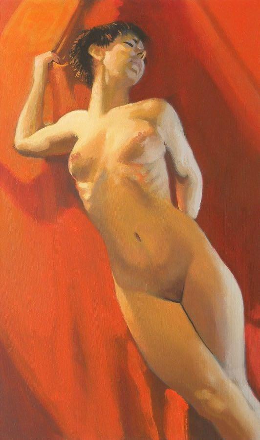 """""""Lean"""" original fine art by Peter Orrock"""