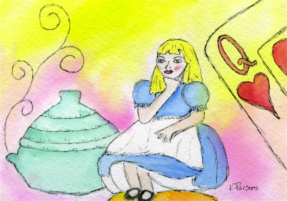 """Alice in Wonderlandia"" original fine art by Kali Parsons"