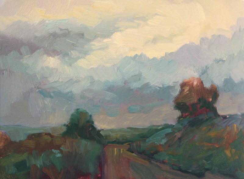 """Road Near Angoin"" original fine art by Kathryn Townsend"