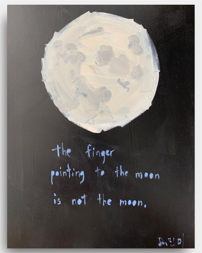 """781 THE MOON"" original fine art by Jenny Doh"