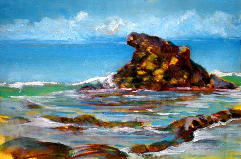 """Shark Fin Rock 2 - sk89"" original fine art by richard rochkovsky"