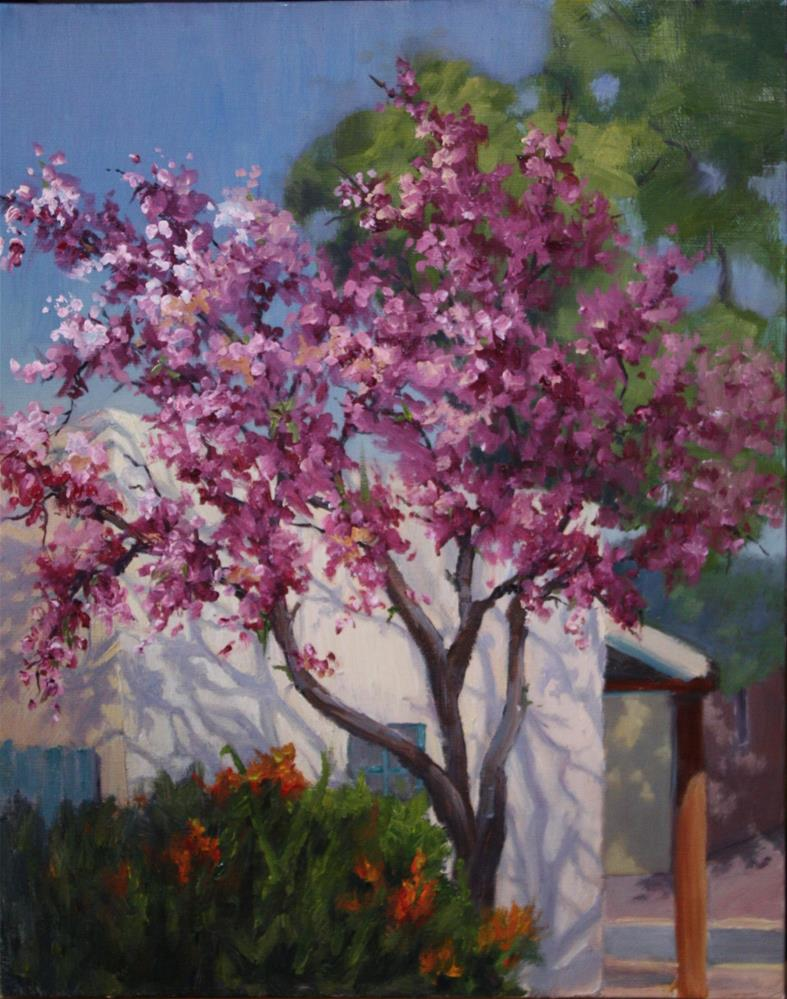 """""""Pink Blossoms in Olde Towne"""" original fine art by Sheila Marie"""