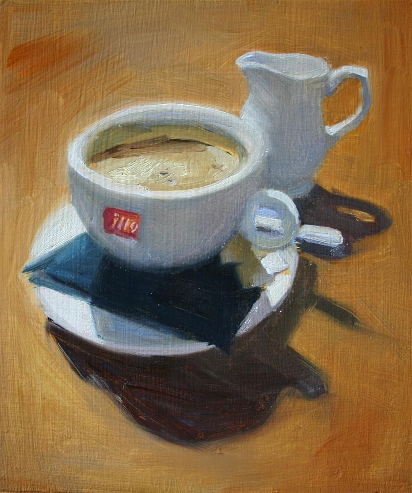 """Americano with milk on the side"" original fine art by Liz Balkwill"