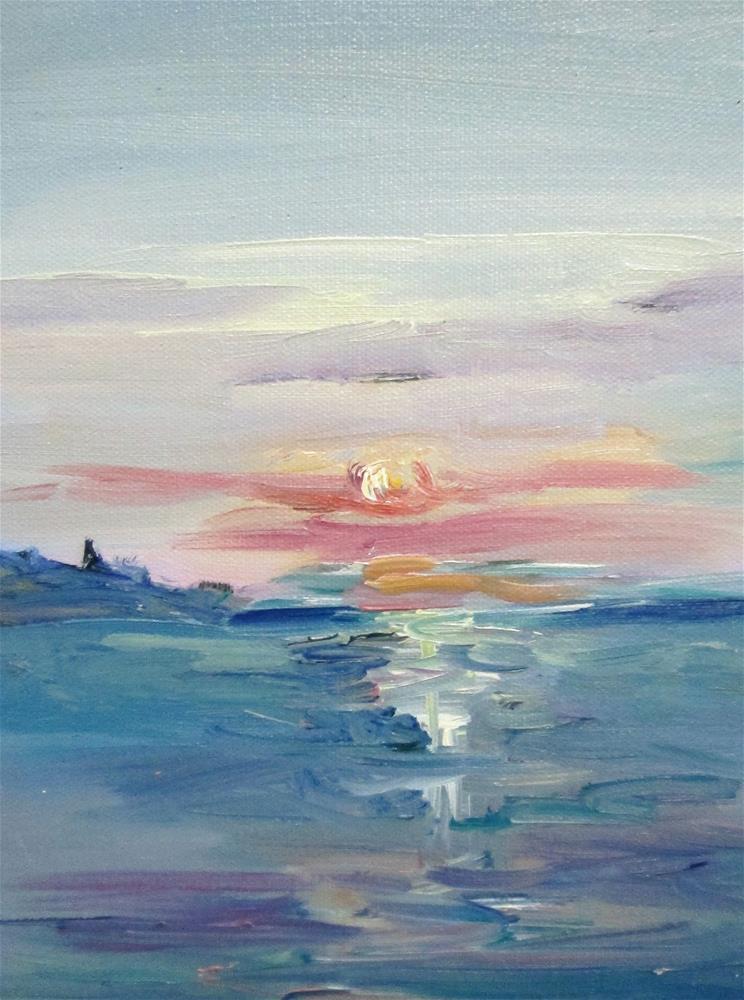 """Sunset"" original fine art by Delilah Smith"