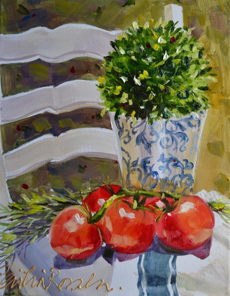 """""""Tomatoes of Provence"""" original fine art by Cecilia Rosslee"""