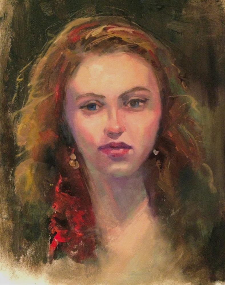 """""""Gypsy 16x20"""" original fine art by Ann Feldman"""