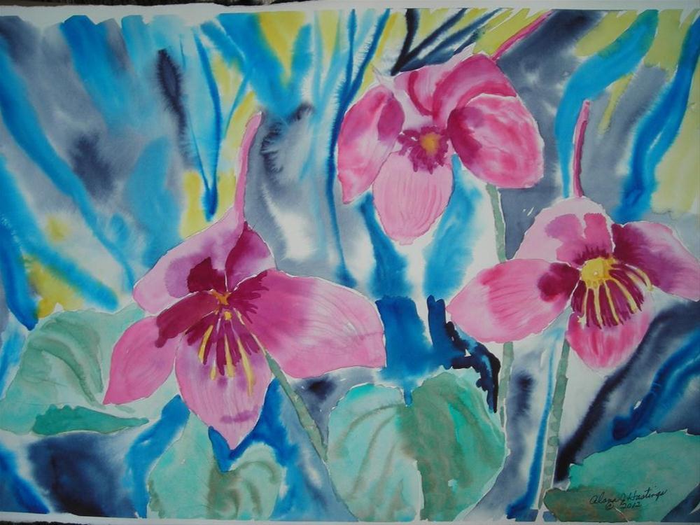 """Pink Combines"" original fine art by Alana Hastings"