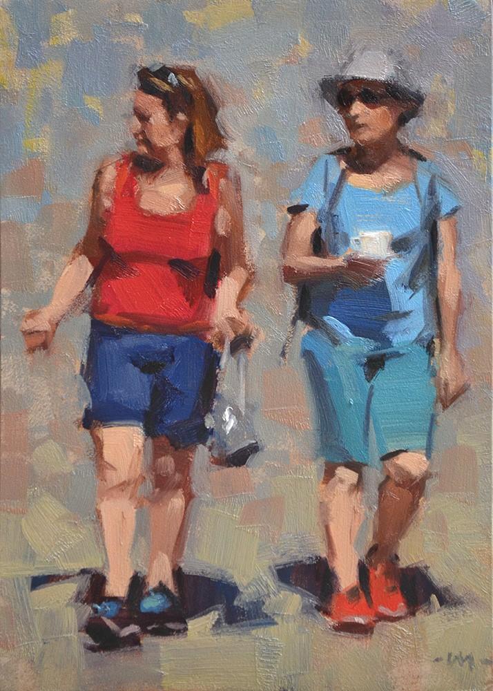 """She Shrugs"" original fine art by Carol Marine"