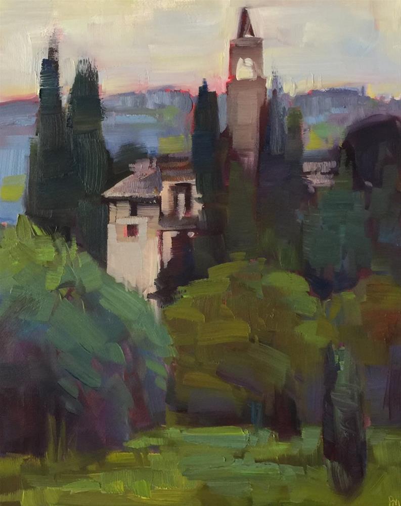 """""""Castello di Montegufoni"""" original fine art by Patti McNutt"""