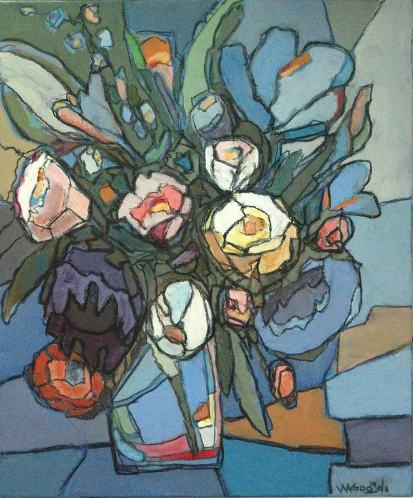 """blooms 1"" original fine art by Vicki Wood"