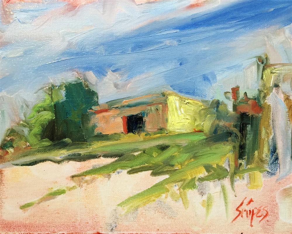 """""""Transparent and Opaque"""" original fine art by Connie Snipes"""