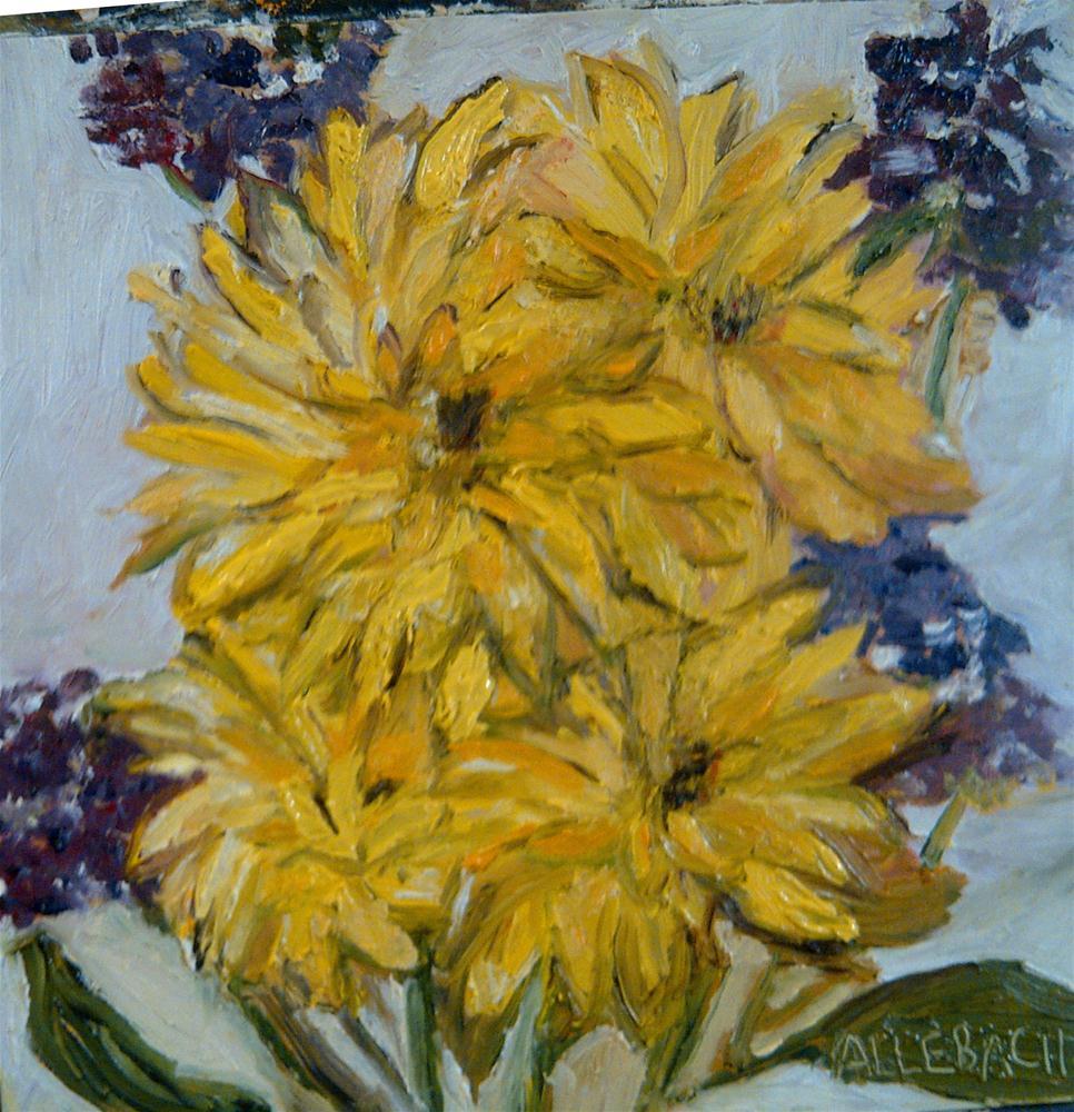 """complementary flowers"" original fine art by Jo Allebach"