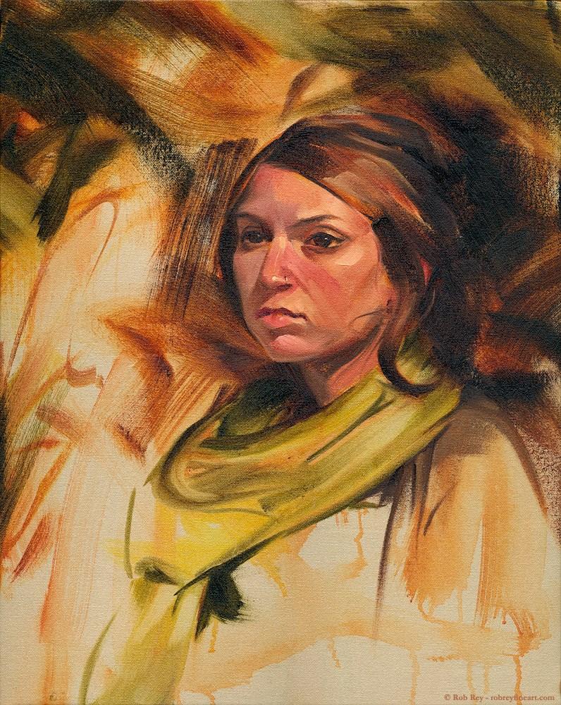 """Sienna and Olive"" original fine art by Rob  Rey"