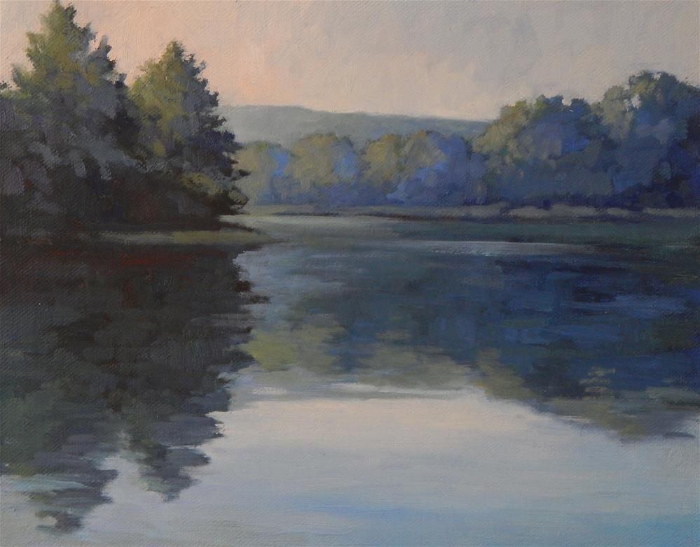 """""""Lakeview"""" original fine art by Lisa Kyle"""