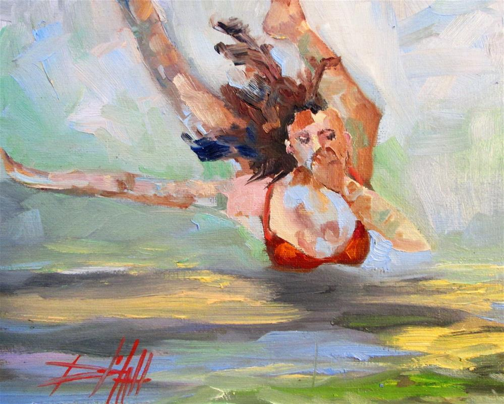 """The Swimmer No. 2"" original fine art by Delilah Smith"