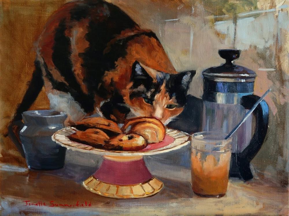 """""""Tea Time"""" original fine art by Jonelle Summerfield"""