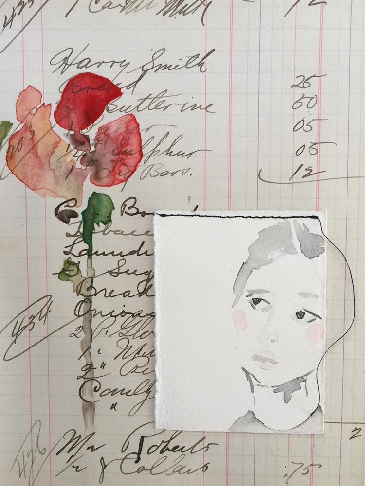 """""""194 Barely There"""" original fine art by Jenny Doh"""