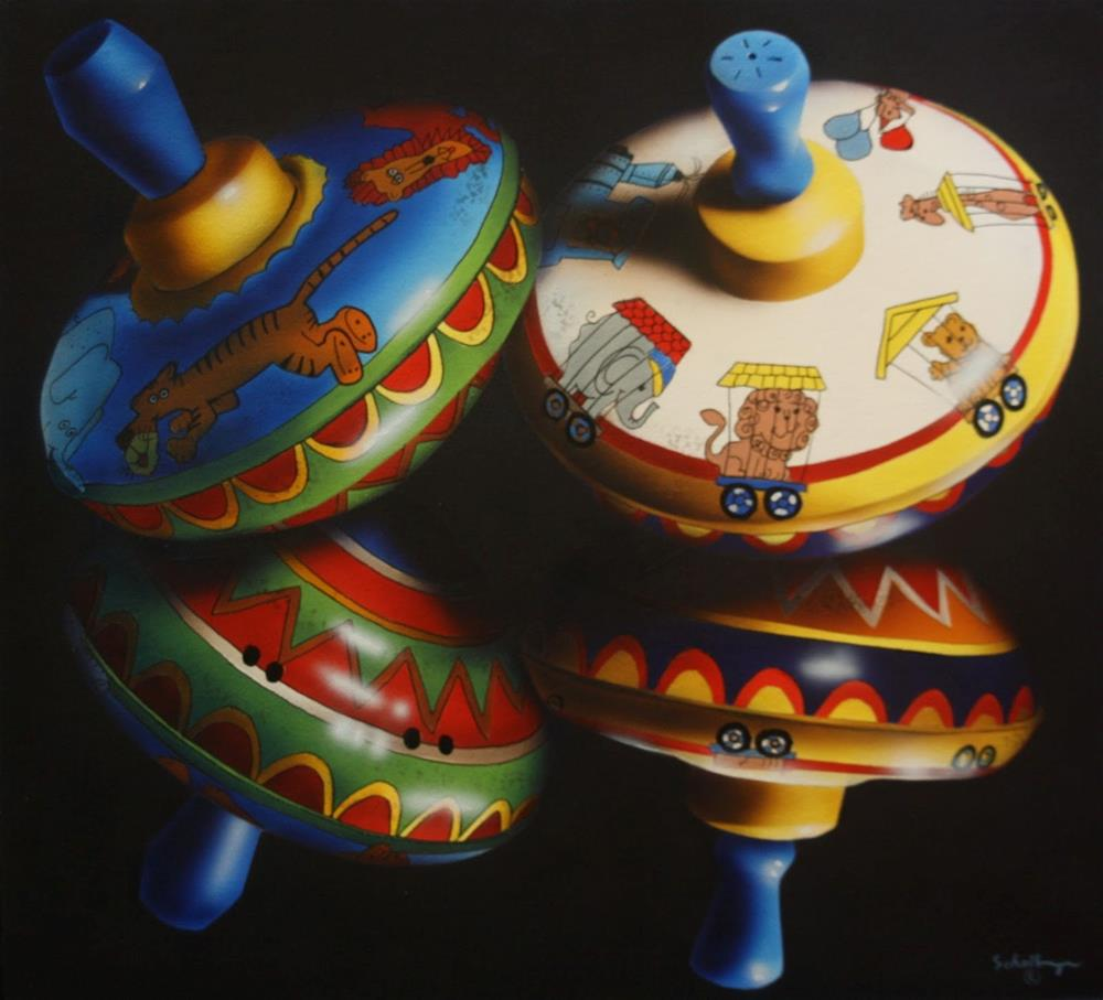 """""""Spinners with Reflections"""" original fine art by Fred Schollmeyer"""