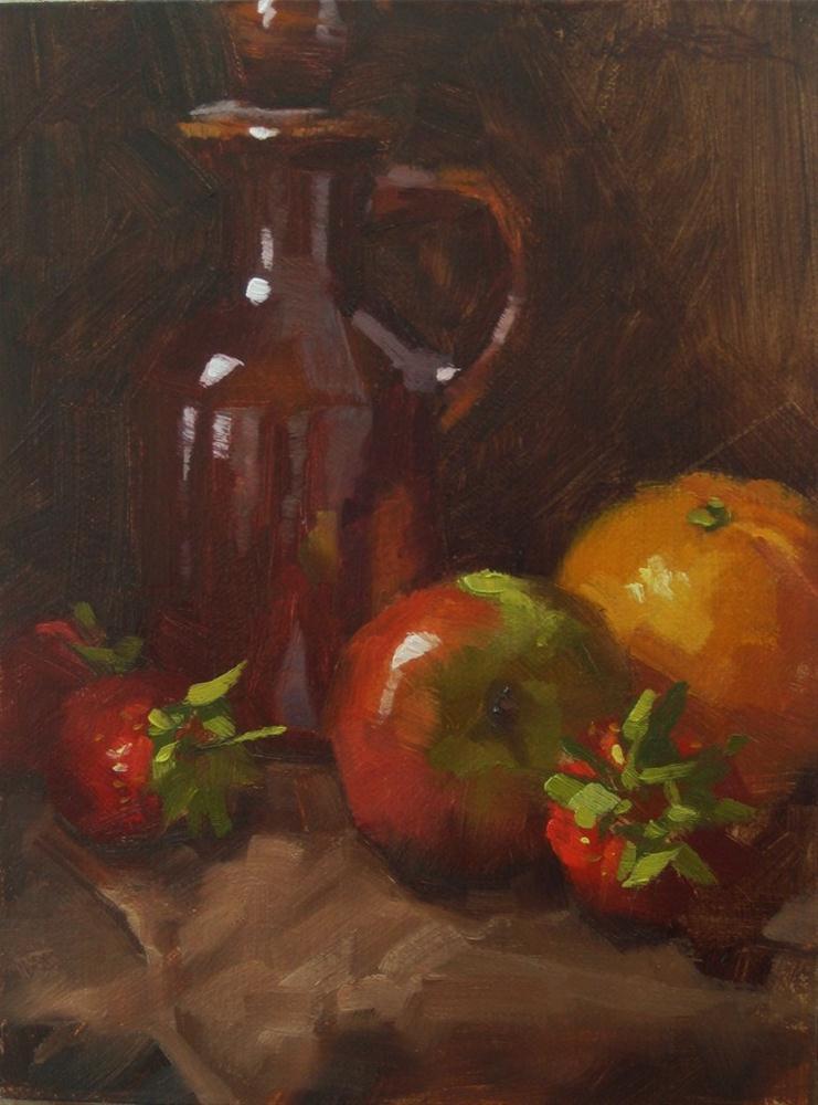 """Syrup Pitcher With Fruit"" original fine art by Karen Werner"