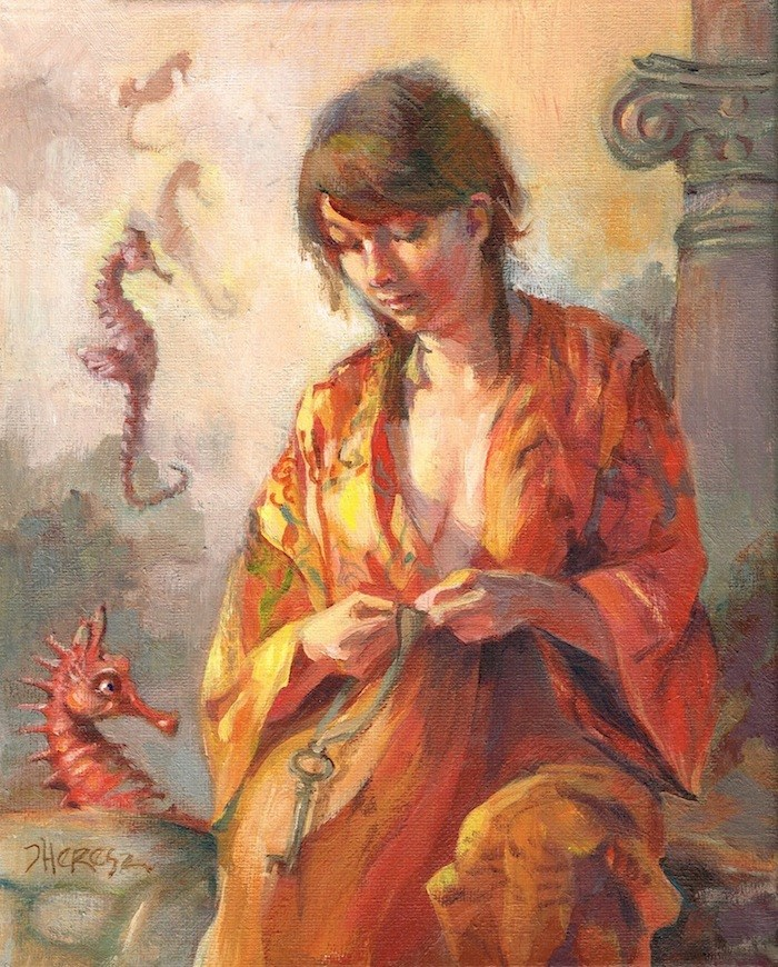 """Halcylon. FRAMED"" original fine art by Theresa Taylor Bayer"