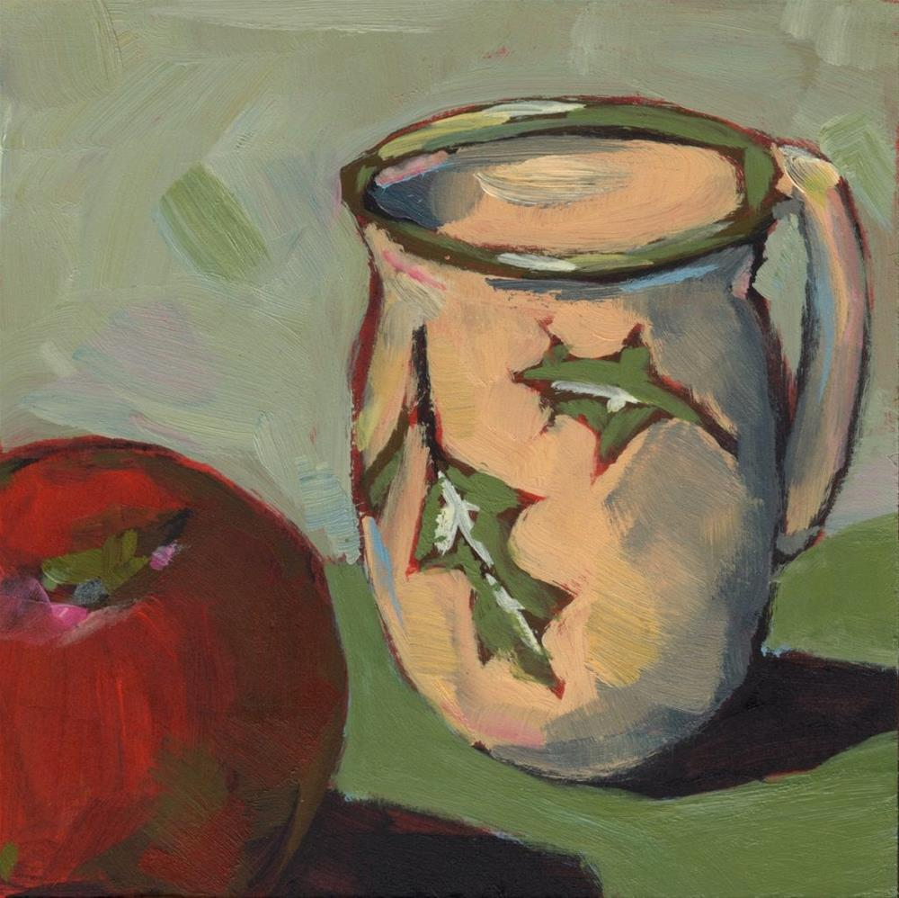 """0280: Holly Mug and Apple"" original fine art by Brian Miller"