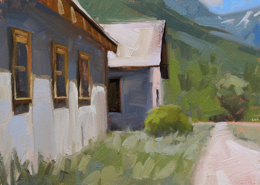 """High Country Shacks"" original fine art by Carol Marine"