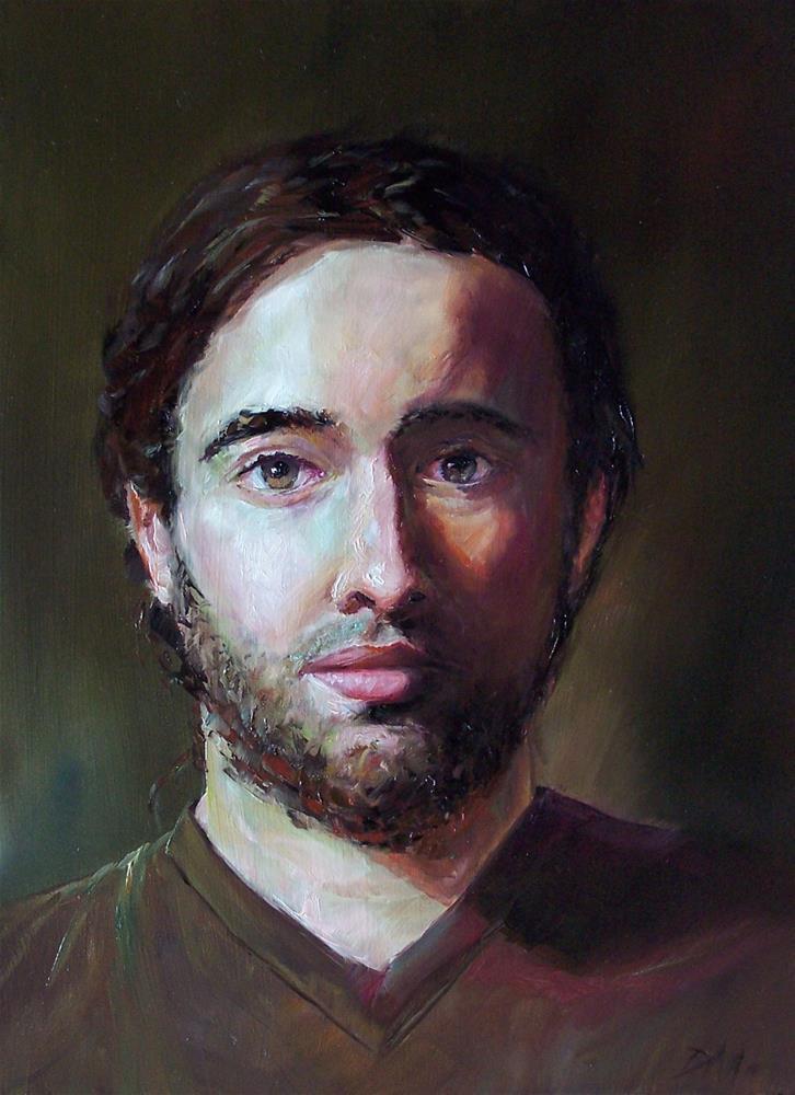 """""""Jeff"""" original fine art by Donna Munsch"""