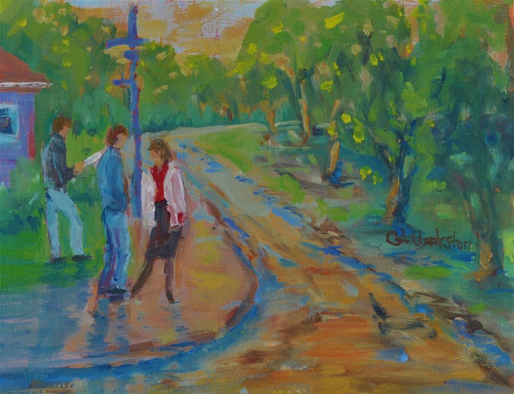 """Attitude"" original fine art by Catherine Crookston"