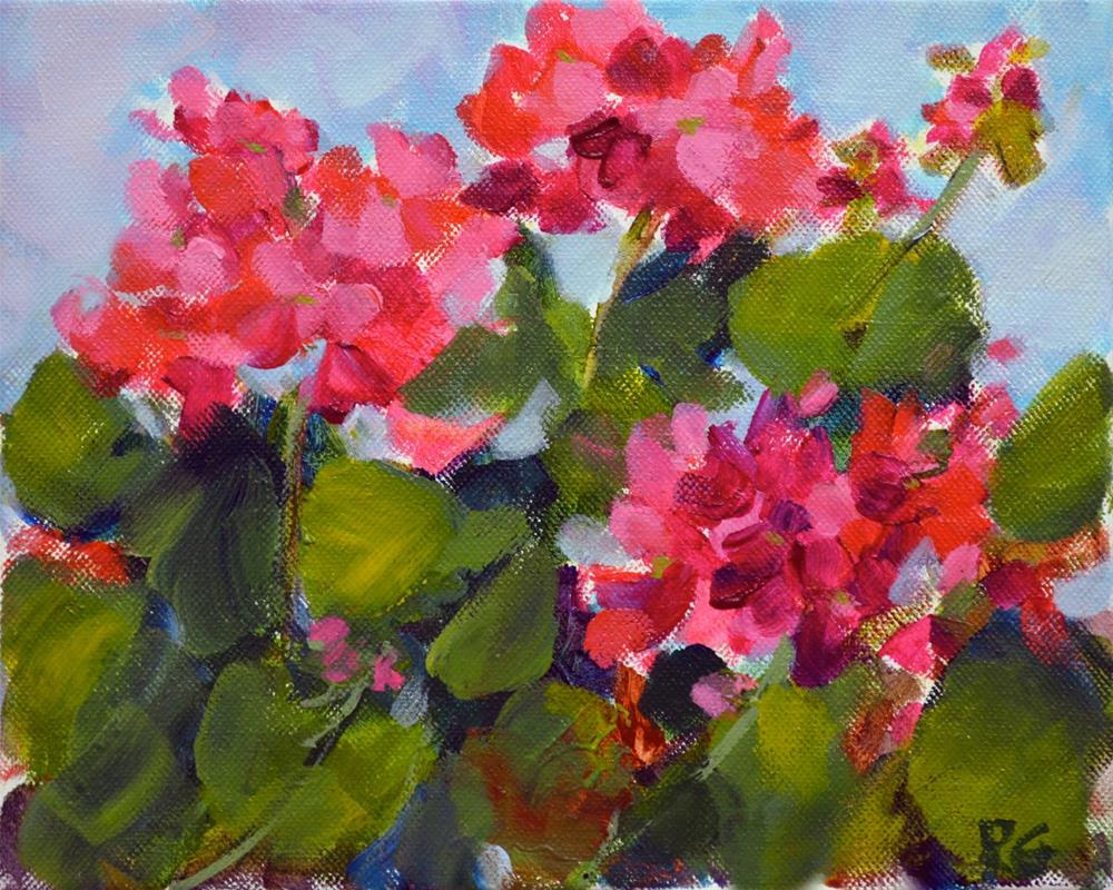 """Geranium Jewels"" original fine art by Pamela Gatens"