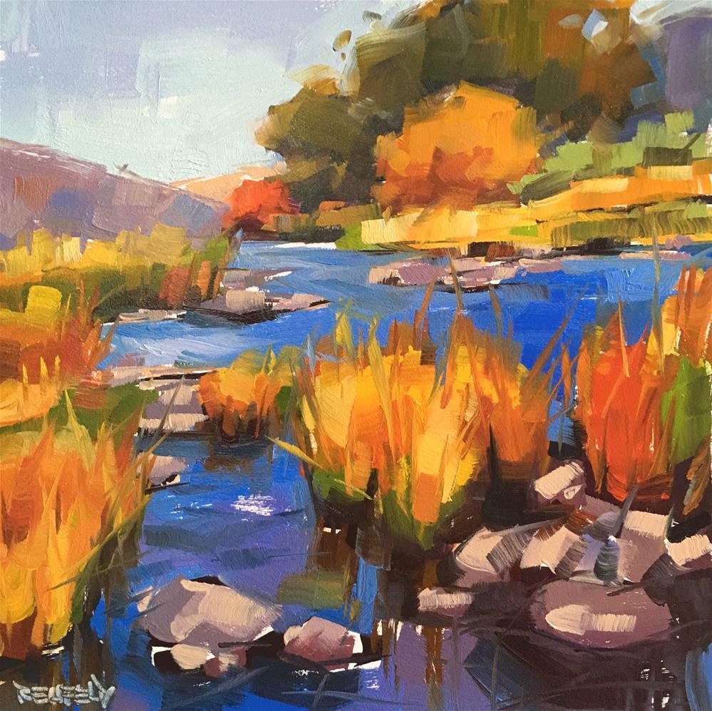 """Deschutes River Color"" original fine art by Cathleen Rehfeld"
