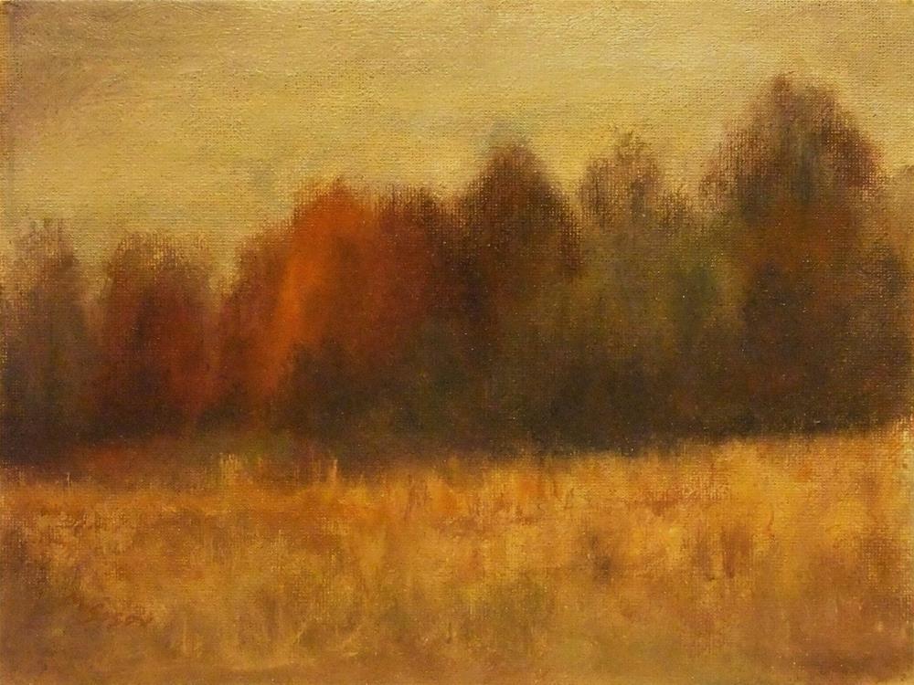 """By the riverside park"" original fine art by Michael Sason"