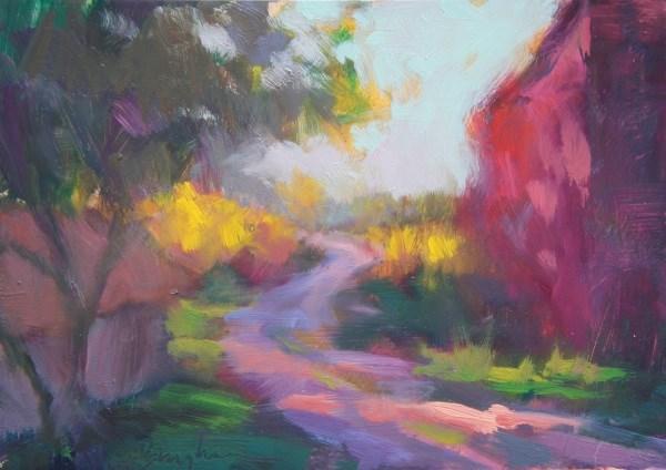 """Red Barn"" original fine art by Bruce Bingham"