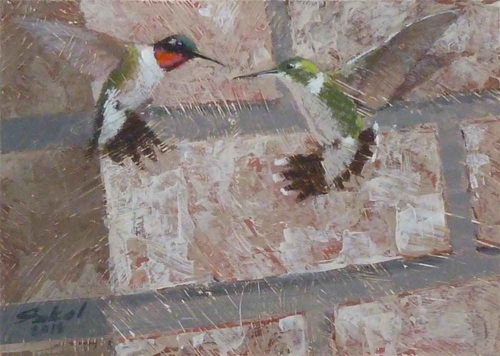"""Bricks and Feathers"" original fine art by Ron Ferkol"