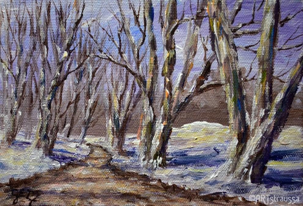 """Sulphur Spring Road"" original fine art by Gloria Ester"