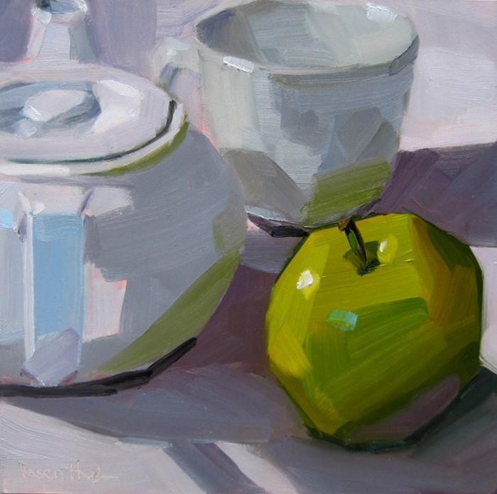 """After Apple Picking"" original fine art by Robin Rosenthal"