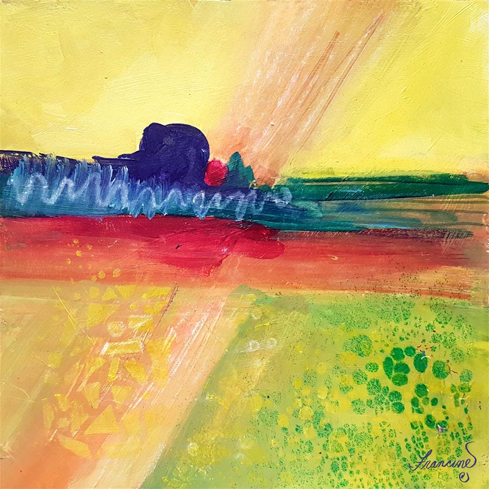 """Composition in Yellow"" original fine art by Francine Dufour~Jones"