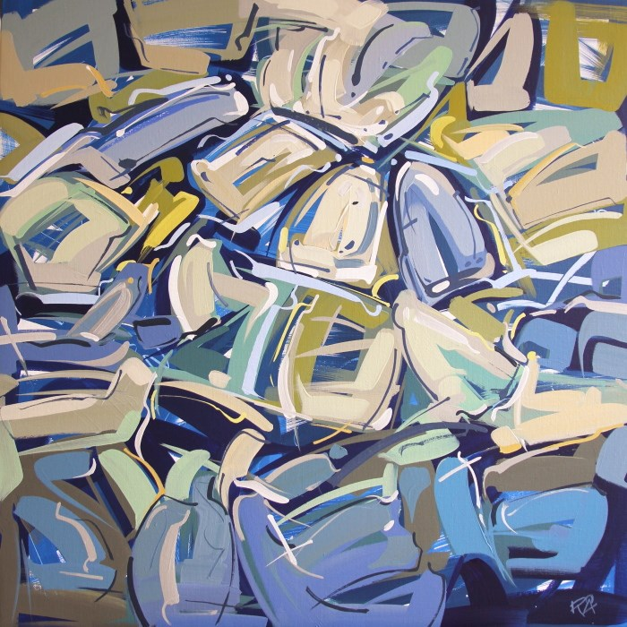 """Shapes & Movement 116"" original fine art by Roger Akesson"