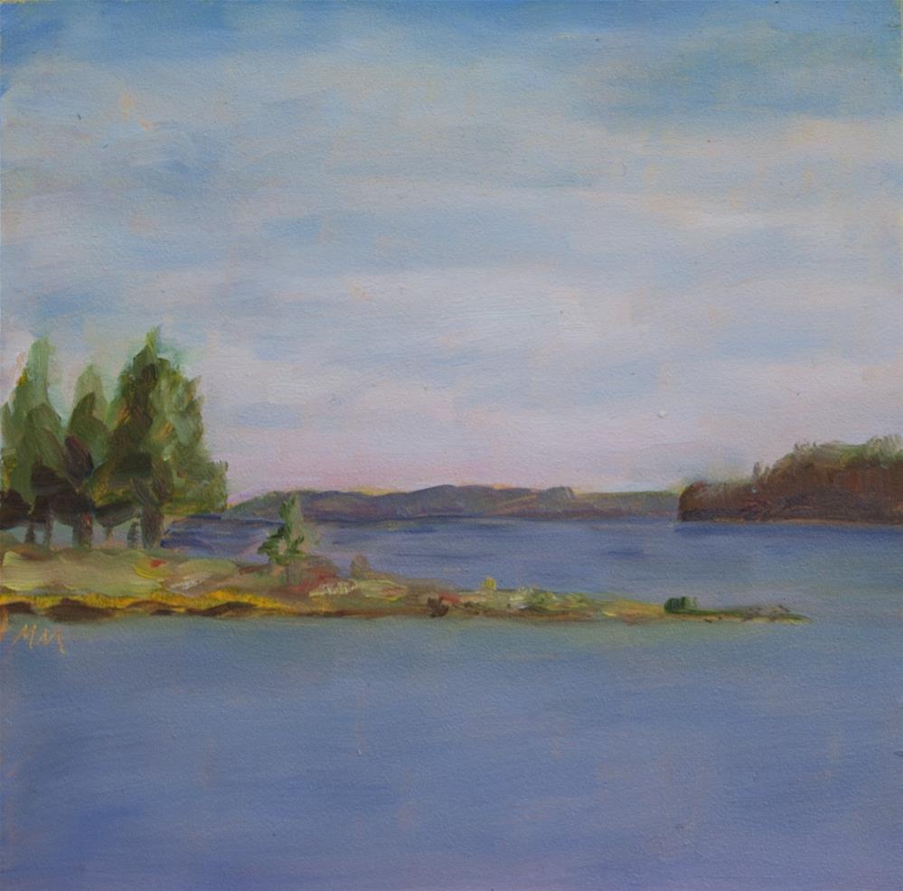 """Rock Island"" original fine art by Maria McNitt"