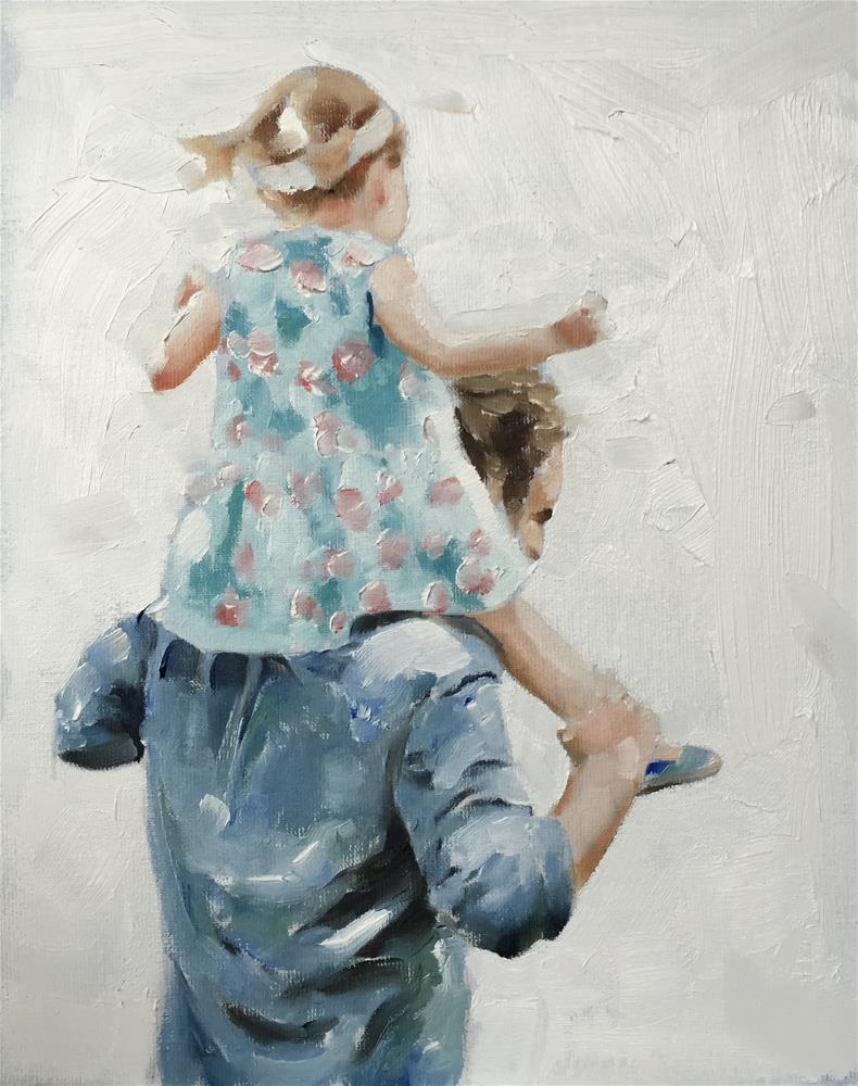 """""""Shoulder Ride"""" original fine art by James Coates"""