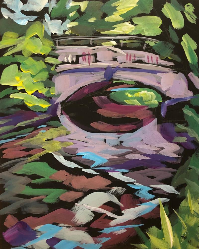 """Under the Bridge"" original fine art by Kat Corrigan"